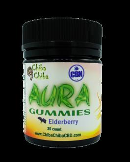 Aura CBD/CBN Elderberry Gummies 30ct 300mg CBD 7.5mg/CBN 2.5mg