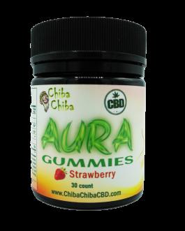 Aura CBD Strawberry Gummies 30 Ct 300 Mg